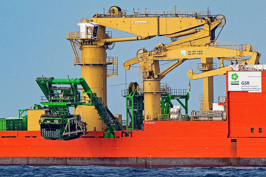 Bearing Witness to the Deep Sea Mining Industry in the Pacific. © Marten  van Dijl / Greenpeace