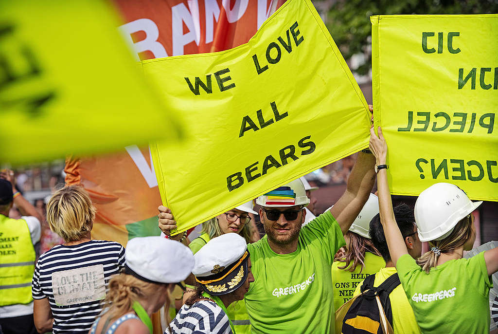 Amsterdam Pride 2018. © Marten  van Dijl / Greenpeace