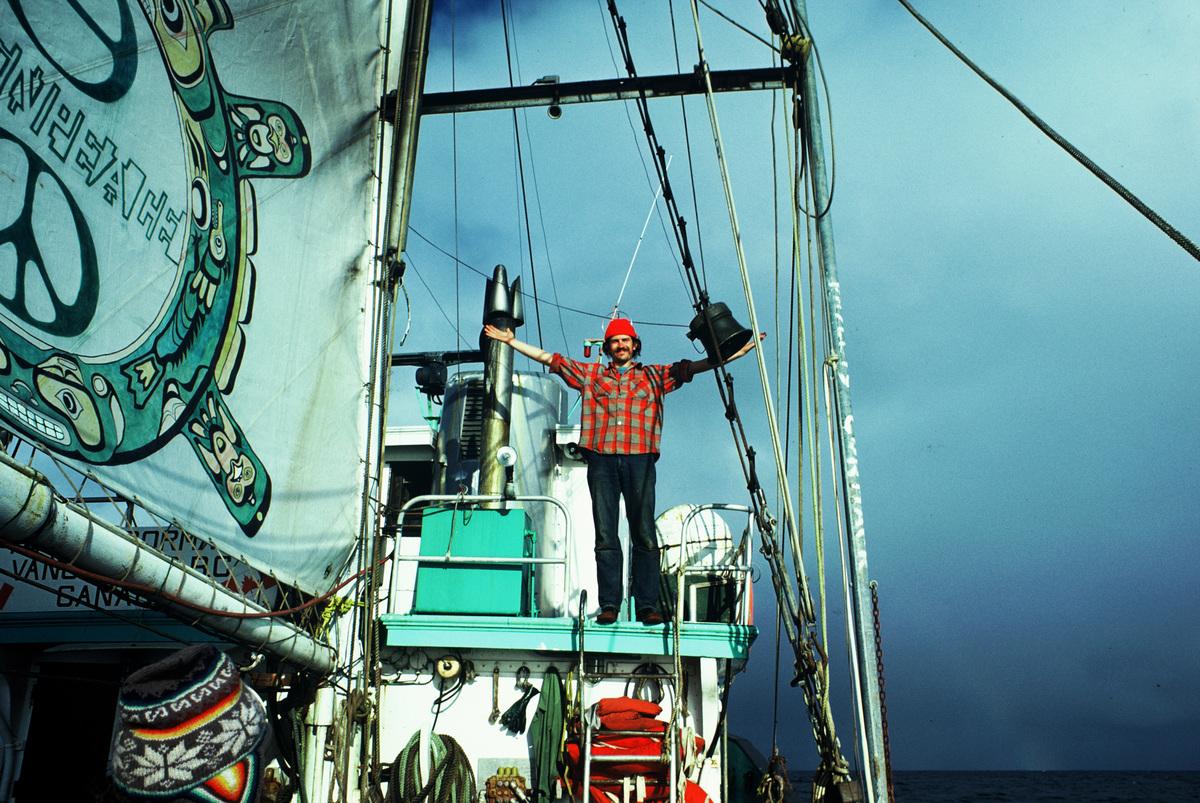 Rex Weyler in North Pacific. © Greenpeace