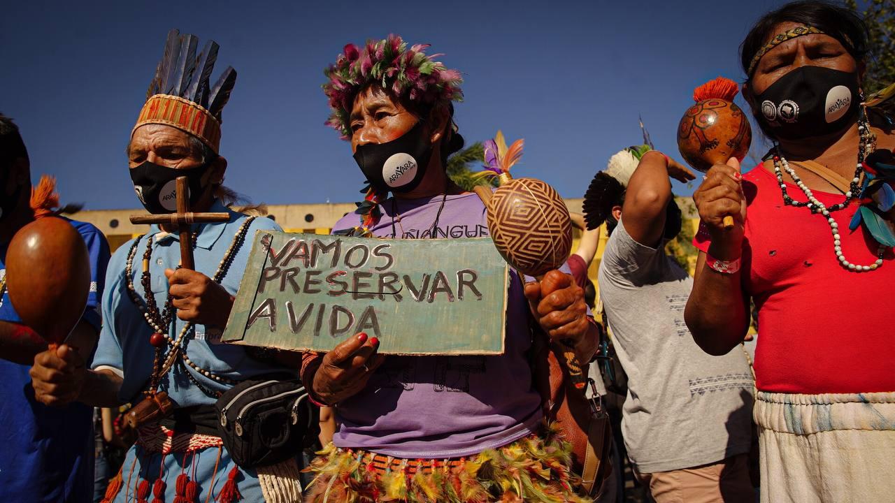 Indigenous Peoples protest in Brasilia, Brazil. © Andressa Zumpano