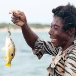 Madame Kokoly and fish