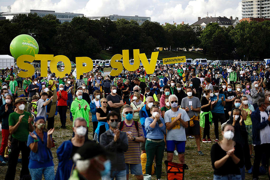 IAA (International Motor Show) Protest in Munich. © Gordon Welters / Greenpeace