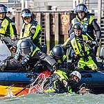 Update: Dutch police board Greenpeace ship and arrest 21 activists after peaceful protest at Shell's refinery in Rotterdam
