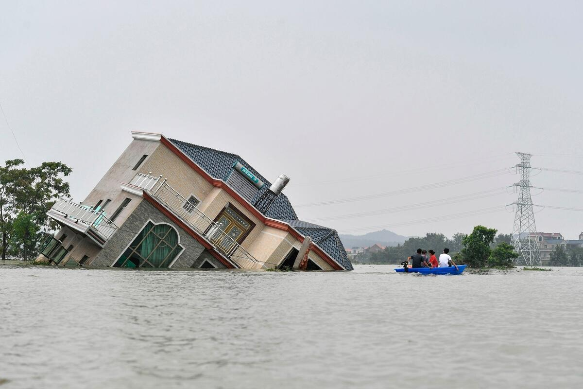 China flooding. © STR/AFP via Getty Images