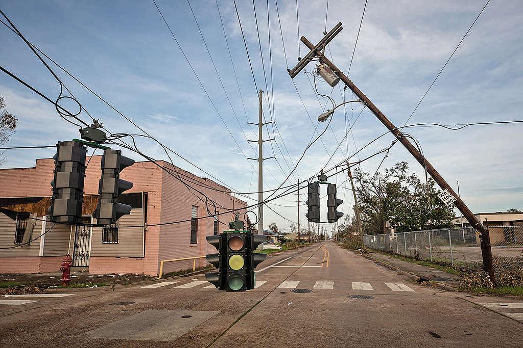 Hurricane Laura in Louisiana. © Julie Dermansky / Greenpeace