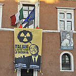 Nuclear Action Palazzo Venezia in Rome. © Tommaso Galli