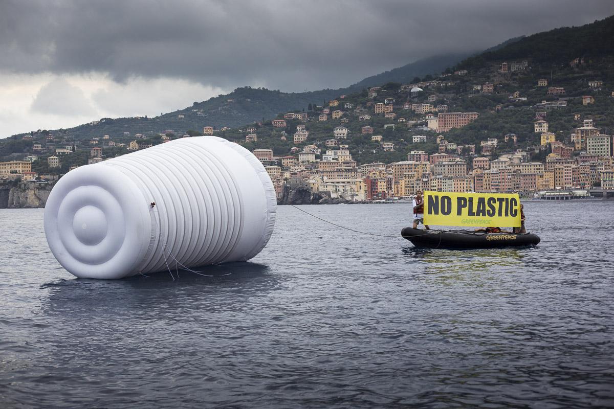 Camogli, 24/6/2017. No plastic campaign.