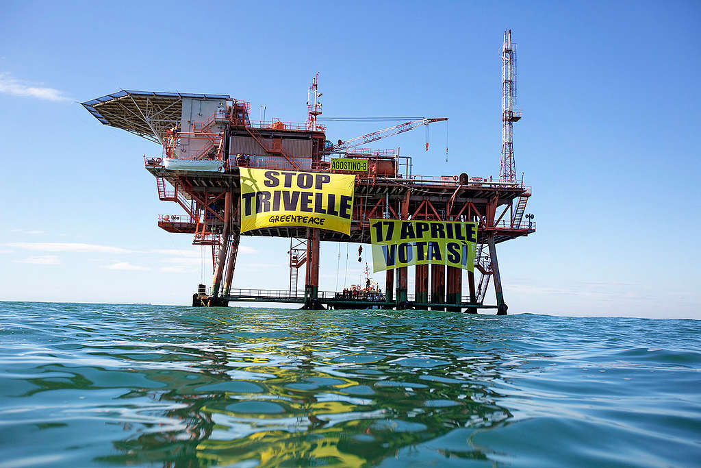 Stop Offshore Drilling Action in Adriatic Sea. © Francesco Alesi