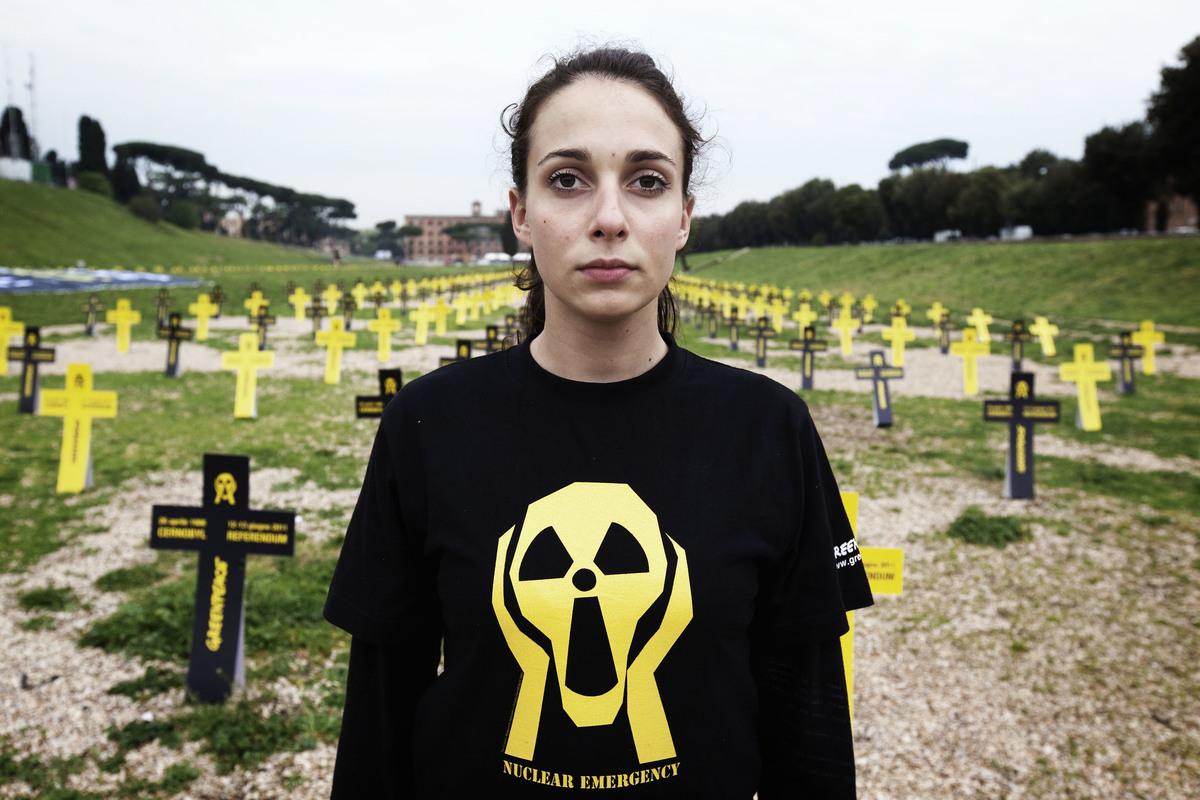 Chernobyl Anniversary Action in Rome. © Francesco Alesi