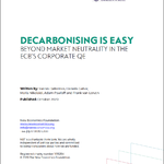 Decarbonising Is Easy: Beyond Market Neutrality in the ECB's Corporate QE