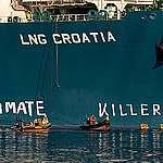 Greenpeace in azione contro il gas fossile nel nuovo terminale offshore in Croazia