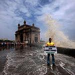 Rising Sea Levels Threaten India. © Greenpeace / Ritesh  Ritesh Uttamchandani