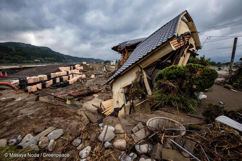 地球温暖化で豪雨災害の被害が増えている