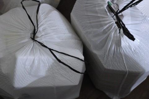 플라스틱 제로 실천 이전의 재활용 쓰레기 - 대부분이 플라스틱 쓰레기