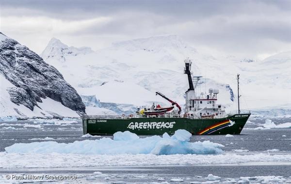 지난 3월, 남극해 탐사를 다녀온 그린피스 환경 감시선 '아틱선라이즈'호