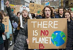 Fridays for Future - Global Student Strike in Prague. © Petr Zewlakk Vrabec / Greenpeace