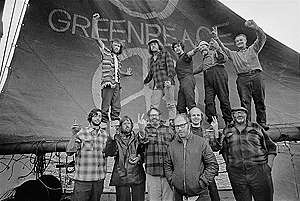 Crew of the Greenpeace - Voyage Documentation (Vancouver to Amchitka: 1971). © Greenpeace / Robert Keziere