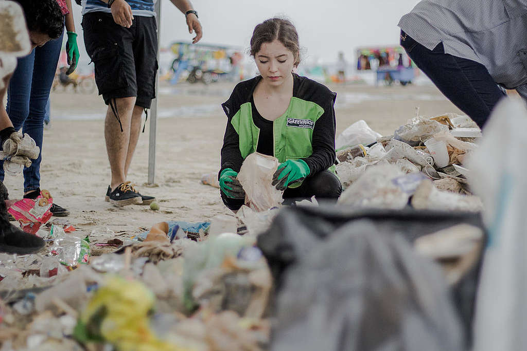 Clean-up and Brand Audit Activity at Miramar Beach in Mexico.