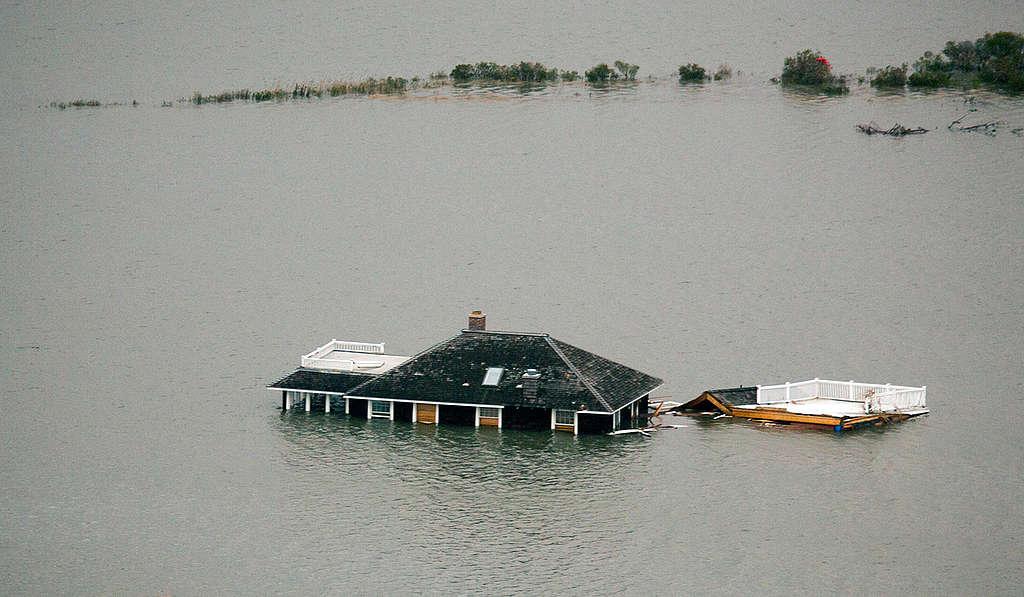 Huracán Sandy en NJ. © Greenpeace / Tim Aubry