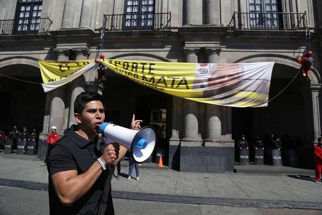 Carlos Samayoa, coordinador de la campaña de Movilidad en Greenpeace México