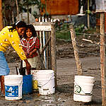 Drinking water is contaminated, Matamoros, Mexico. © Greenpeace / Robert Visser