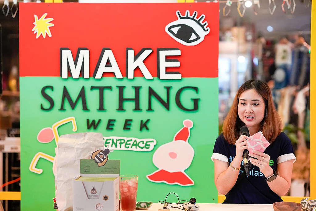 Greenpeace ha organizado MAKE SMTHNG Week en varios países, como Tailandia, Alemania o Grecia, en los que se imparten talleres DIY.