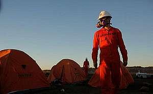 Stop Fracking Patagonia Action in Vaca Muerta, Argentina