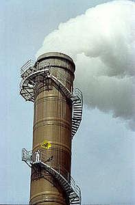 Greenpeace Action against Cementa Cement Factory in Gotland, Sweden. © Greenpeace / John Cunningham