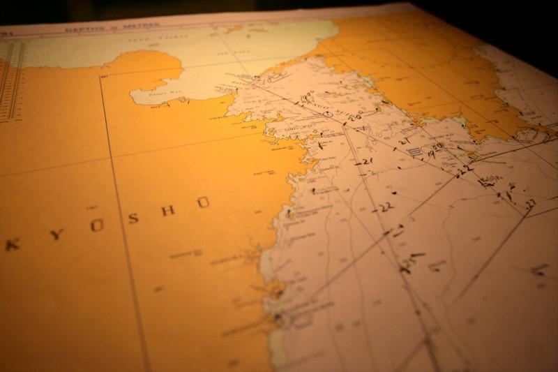 Sea Chart onboard the Esperanza