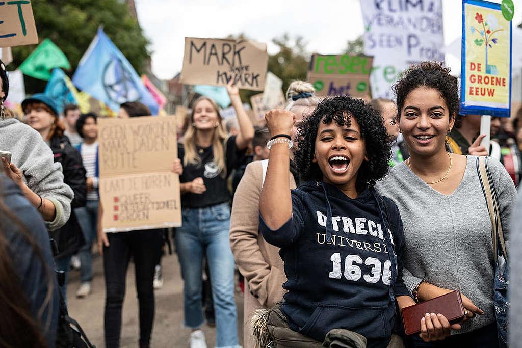 Climate Strike in The Hague, Netherlands. © Maaike Schauer / Greenpeace