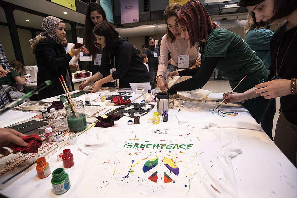 MAKE SMTHNG Week in Turkey. © Greenpeace / MUSTAFA ALKAC