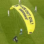 Een bericht over de paraglider tijdens de EK-wedstrijd