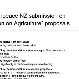 Greenpeace submission on the Action on Agriculture proposal