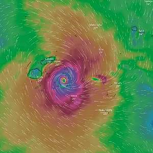 Tropical Cyclone Yasa's climate-charged 345 km/h winds cut a path of destruction through Fiji's two major islands