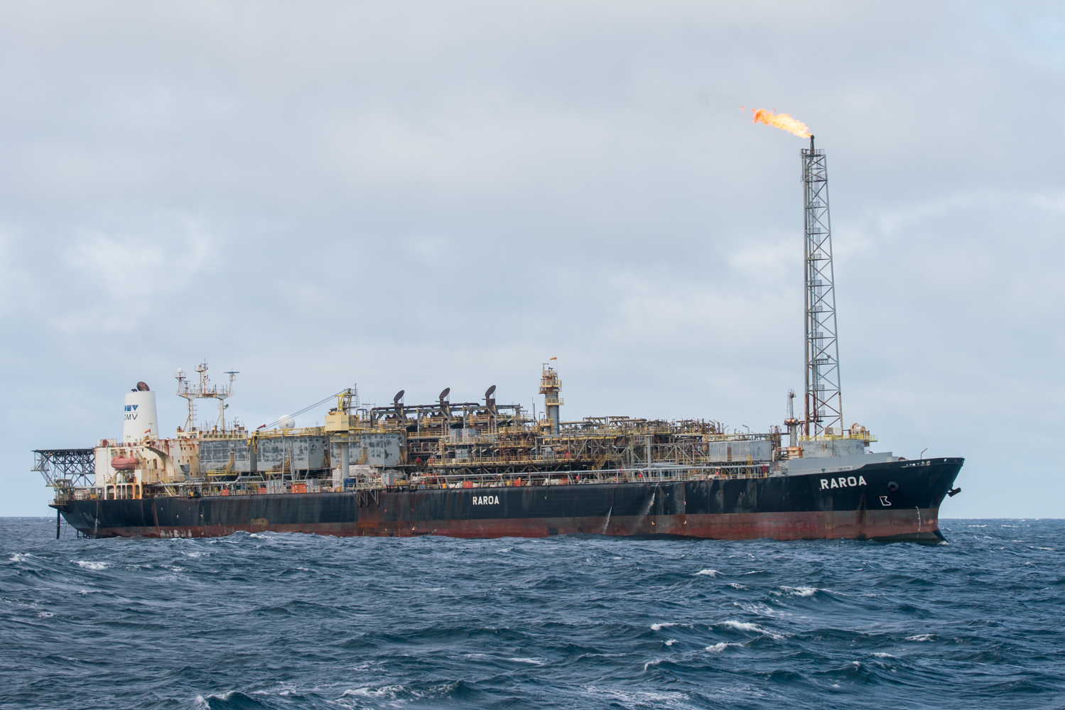 The Raroa, an OMV-owned oil storage and processing vessel.