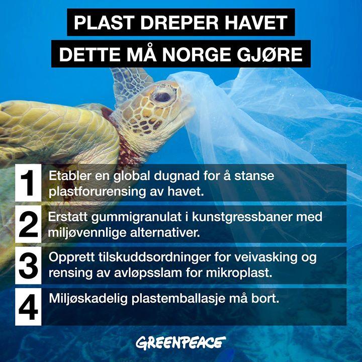 Greenpeace sine krav til Norge