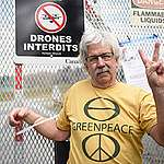 Rex Weyler at Kinder Morgan Tank Farm in British Columbia. ©  Rogue Collective / Greenpeace
