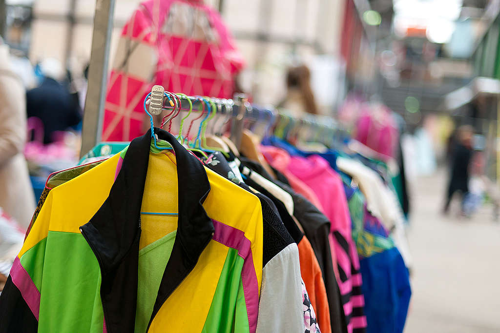 """""""Detox"""" Second-Hand Clothes Event in Amsterdam. © Greenpeace / Mandy Brander"""