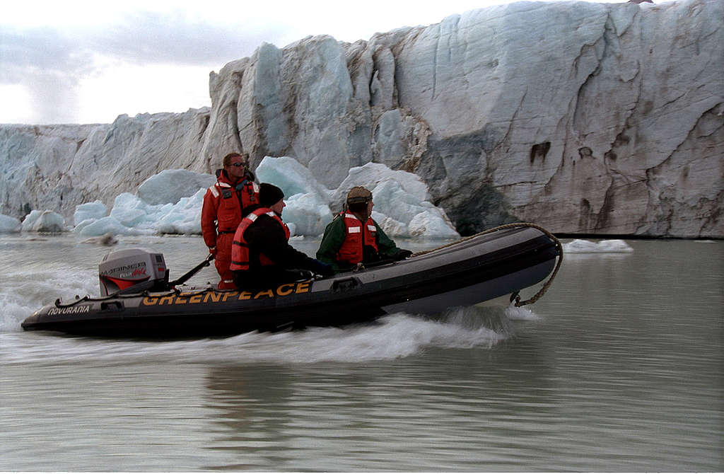 Climate Impact Documentation in Norway, Svalbard. © Greenpeace / Christian Aslund
