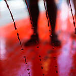 """Indigenous People Protest with """"Blood"""" Trail in Brazil. © Adriano Machado / MNI"""