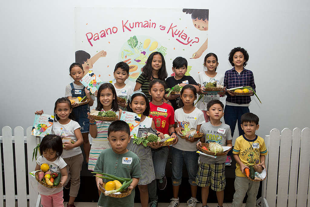 Children's Book Launch in Manila. © Geric Cruz / Greenpeace
