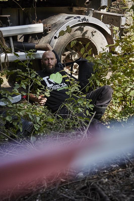 Blokada nielegalnego wywozu drzew z Puszczy Białowieskiej