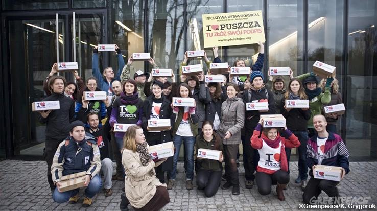 Greenpeace zbiera podpisy w Warszawie