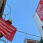 Greenpeace protestuje przed fabryką Danish Crown znanego w Polsce pod marką Sokołów