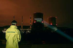Action at Illegal Coal Power Plant in Romania. © Dan Campean / Greenpeace