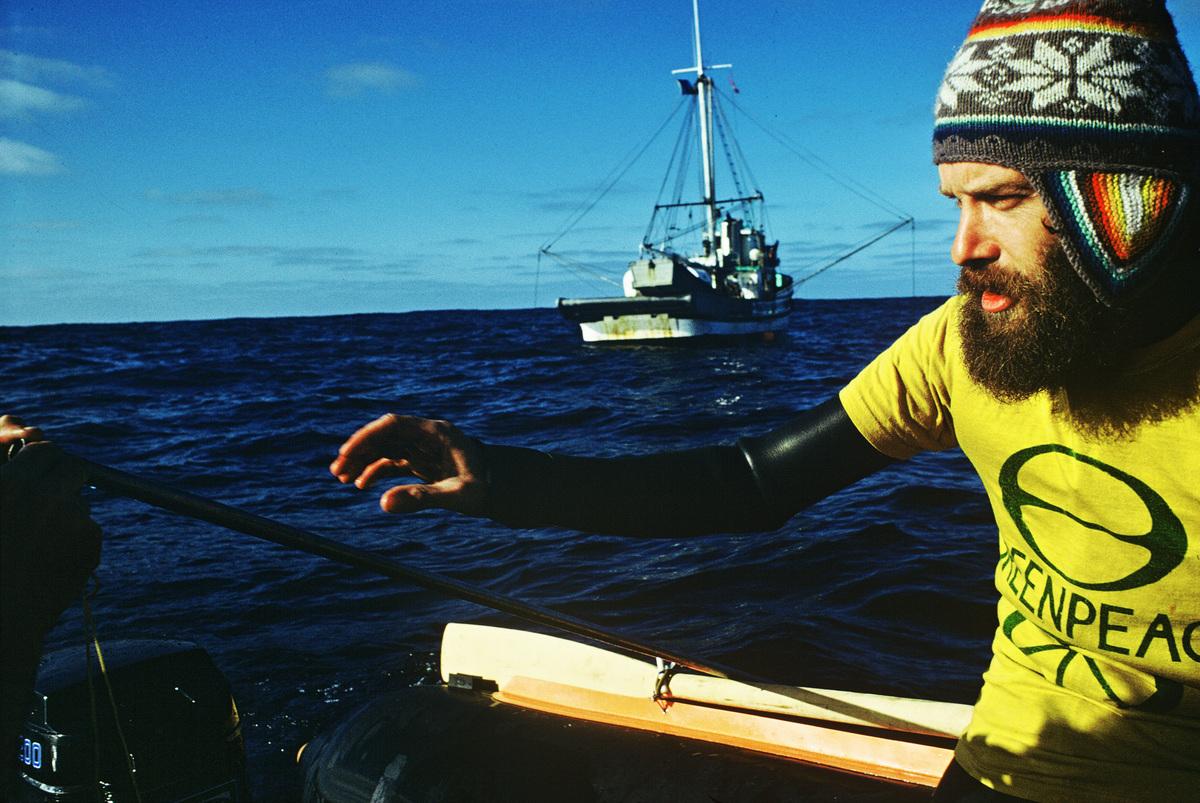 Bob Hunter in North Pacific. © Greenpeace / Rex Weyler