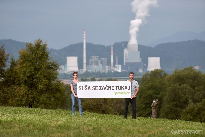 Suša se začne tukaj. Velenje, avgust 2017. (c) Iztok Medja / Greenpeace.