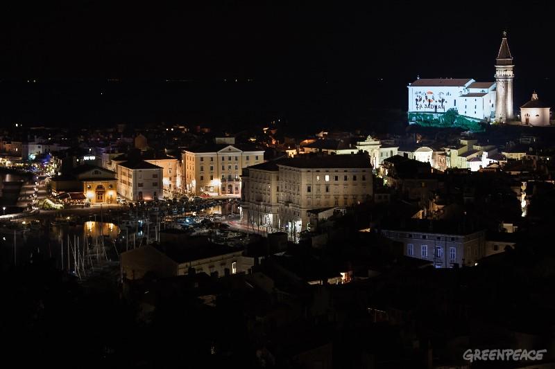 SOS za Jadran. (c) Mitja Kobal/ Greenpeace