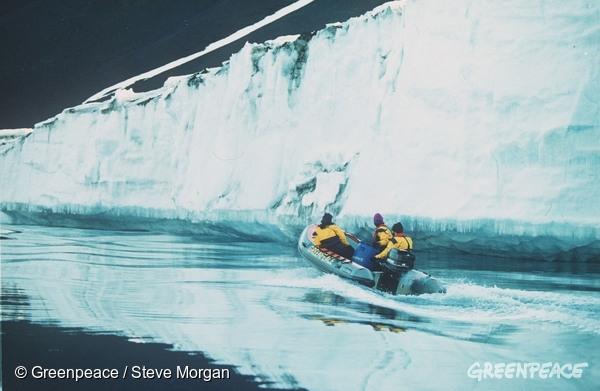 Greenpeaceova odprava na Antarktiki. (c) Greenpeace.
