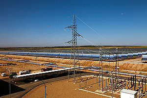 La Dehesa 50 MW Parabolic Solar Thermal Power Plant in Spain. © Markel Redondo / Greenpeace